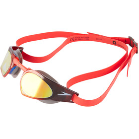 speedo Fastskin Prime Mirror Goggle USA Charcoal/White/Lava Red